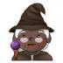 🧙🏿 mage: dark skin tone Emoji on Samsung Platform
