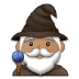 🧙🏽‍♂️ man mage: medium skin tone Emoji on Samsung Platform