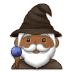 🧙🏾♂️ man mage: medium-dark skin tone Emoji on Samsung Platform