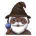 🧙🏿♂️ man mage: dark skin tone Emoji on Samsung Platform