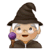 🧙🏼‍♀️ woman mage: medium-light skin tone Emoji on Samsung Platform