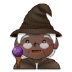 🧙🏿‍♀️ woman mage: dark skin tone Emoji on Samsung Platform