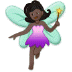 🧚🏿 fairy: dark skin tone Emoji on Samsung Platform