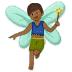 🧚🏾♂️ man fairy: medium-dark skin tone Emoji on Samsung Platform