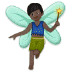 🧚🏿‍♂️ man fairy: dark skin tone Emoji on Samsung Platform