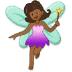 🧚🏾♀️ woman fairy: medium-dark skin tone Emoji on Samsung Platform