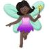 🧚🏿♀️ woman fairy: dark skin tone Emoji on Samsung Platform