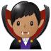 🧛🏽♂️ man vampire: medium skin tone Emoji on Samsung Platform
