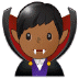 🧛🏾‍♂️ man vampire: medium-dark skin tone Emoji on Samsung Platform