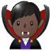 🧛🏿♂️ man vampire: dark skin tone Emoji on Samsung Platform