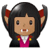 🧛🏽‍♀️ woman vampire: medium skin tone Emoji on Samsung Platform