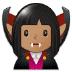 🧛🏽♀️ woman vampire: medium skin tone Emoji on Samsung Platform