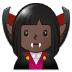 🧛🏿♀️ woman vampire: dark skin tone Emoji on Samsung Platform