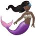 🧜🏿 merperson: dark skin tone Emoji on Samsung Platform