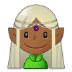 🧝🏾 elf: medium-dark skin tone Emoji on Samsung Platform