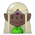 🧝🏿 elf: dark skin tone Emoji on Samsung Platform