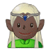 🧝🏿‍♂️ man elf: dark skin tone Emoji on Samsung Platform