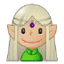 🧝🏼♀️ woman elf: medium-light skin tone Emoji on Samsung Platform