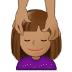 💆🏽 person getting massage: medium skin tone Emoji on Samsung Platform