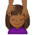 💆🏾 person getting massage: medium-dark skin tone Emoji on Samsung Platform