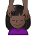 💆🏿 person getting massage: dark skin tone Emoji on Samsung Platform