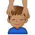 💆🏽♂️ man getting massage: medium skin tone Emoji on Samsung Platform