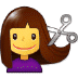 💇 person getting haircut Emoji on Samsung Platform