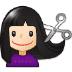 💇🏻 person getting haircut: light skin tone Emoji on Samsung Platform