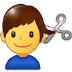 💇‍♂️ man getting haircut Emoji on Samsung Platform