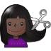 💇🏿♀️ woman getting haircut: dark skin tone Emoji on Samsung Platform
