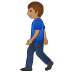 🚶🏽 person walking: medium skin tone Emoji on Samsung Platform