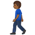 🚶🏾 person walking: medium-dark skin tone Emoji on Samsung Platform