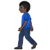 🚶🏿 person walking: dark skin tone Emoji on Samsung Platform