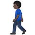 🚶🏿♂️ man walking: dark skin tone Emoji on Samsung Platform