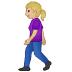 🚶🏼♀️ woman walking: medium-light skin tone Emoji on Samsung Platform