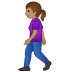 🚶🏽♀️ woman walking: medium skin tone Emoji on Samsung Platform