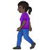 🚶🏿♀️ woman walking: dark skin tone Emoji on Samsung Platform