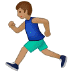 🏃🏽 person running: medium skin tone Emoji on Samsung Platform