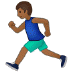 🏃🏾 person running: medium-dark skin tone Emoji on Samsung Platform