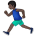🏃🏿 person running: dark skin tone Emoji on Samsung Platform