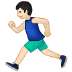 🏃🏻‍♂️ man running: light skin tone Emoji on Samsung Platform