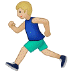🏃🏼‍♂️ man running: medium-light skin tone Emoji on Samsung Platform