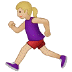 🏃🏼‍♀️ woman running: medium-light skin tone Emoji on Samsung Platform