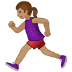 🏃🏽‍♀️ woman running: medium skin tone Emoji on Samsung Platform