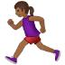 🏃🏾♀️ woman running: medium-dark skin tone Emoji on Samsung Platform