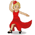 💃🏼 woman dancing: medium-light skin tone Emoji on Samsung Platform