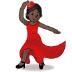 💃🏿 woman dancing: dark skin tone Emoji on Samsung Platform