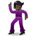 🕺🏿 man dancing: dark skin tone Emoji on Samsung Platform