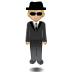 🕴🏼 man in suit levitating: medium-light skin tone Emoji on Samsung Platform