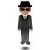 🕴🏽 man in suit levitating: medium skin tone Emoji on Samsung Platform